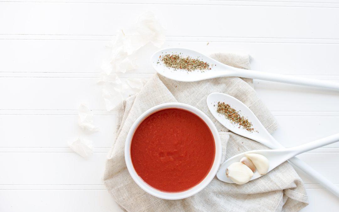 Velouté froid de courgettes et tomates