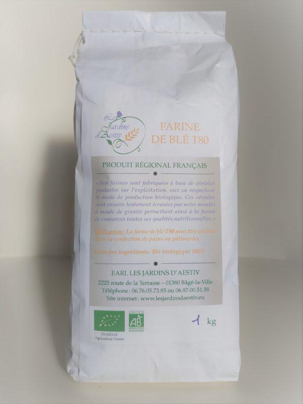 Sachet de farine de blé T80 Bio HappyPanier