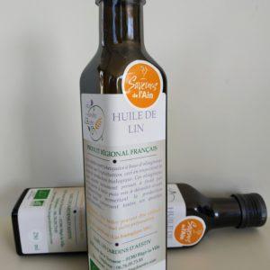 Bouteille d'huile de lin HappyPanier